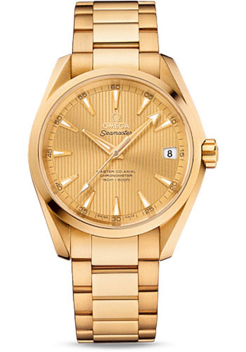 Omega Watches - Seamaster Aqua Terra 150 M Master Co-Axial 38.5 mm - Yellow Gold - Style No: 231.50.39.21.08.001