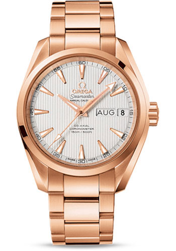 Omega Watches - Seamaster Aqua Terra 150M Co-Axial Annual Calendar 38.5 mm - Red Gold - Style No: 231.50.39.22.02.001