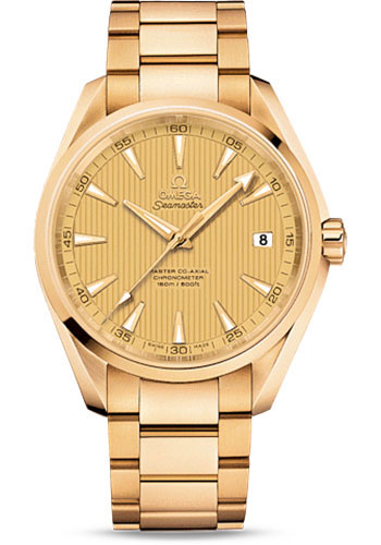 Omega Watches - Seamaster Aqua Terra 150 M Master Co-Axial 41.5 mm - Yellow Gold - Style No: 231.50.42.21.08.001