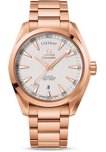 Omega Watches - Seamaster Aqua Terra 150M Co-Axial Day-Date 41.5 mm - Red Gold - Style No: 231.50.42.22.02.001