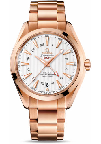 Omega Watches - Seamaster Aqua Terra 150 M Co-Axial GMT 43 mm - Red Gold - Style No: 231.50.43.22.02.001