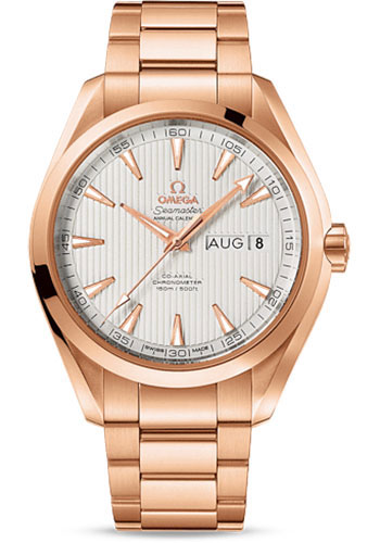 Omega Watches - Seamaster Aqua Terra 150M Co-Axial Annual Calendar 43 mm - Red Gold - Style No: 231.50.43.22.02.002