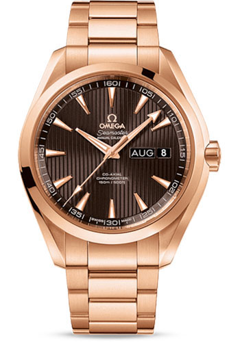 Omega Watches - Seamaster Aqua Terra 150 M Co-Axial Annual Calendar 43 mm - Red Gold - Style No: 231.50.43.22.06.003