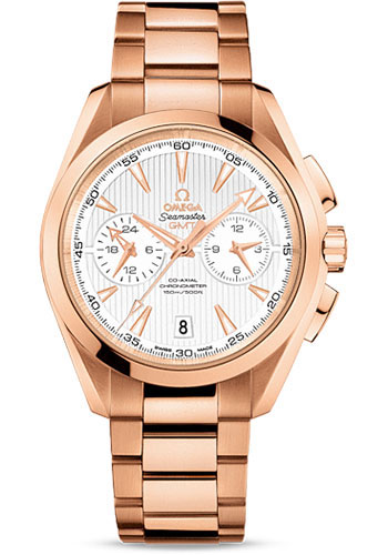 Omega Watches - Seamaster Aqua Terra 150M Co-Axial GMT Chronograph 43 mm - Red Gold - Style No: 231.50.43.52.02.001