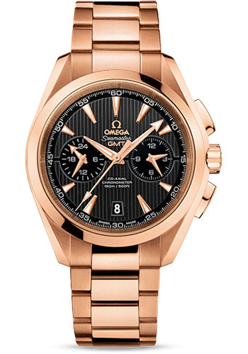 Omega Watches - Seamaster Aqua Terra 150 M Co-Axial GMT Chronograph 43 mm - Red Gold - Style No: 231.50.43.52.06.001