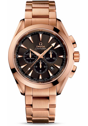 Omega Watches - Seamaster Aqua Terra Chronograph Red Gold - Style No: 231.50.44.50.06.001