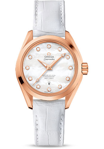 Omega Watches - Seamaster Aqua Terra 150M Master Co-Axial 34 mm - Sedna Gold - Style No: 231.53.34.20.55.001