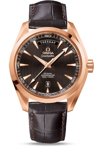 Omega Watches - Seamaster Aqua Terra 150 M Co-Axial Day-Date 41.5 mm - Red Gold - Style No: 231.53.42.22.06.001