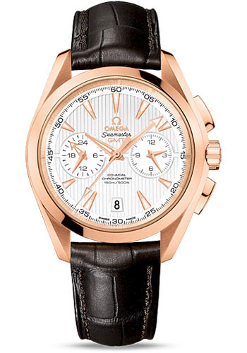 Omega Watches - Seamaster Aqua Terra 150 M Co-Axial GMT Chronograph 43 mm - Red Gold - Style No: 231.53.43.52.02.001