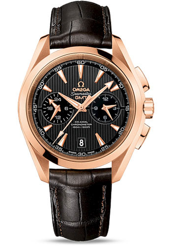Omega Watches - Seamaster Aqua Terra 150 M Co-Axial GMT Chronograph 43 mm - Red Gold - Style No: 231.53.43.52.06.001