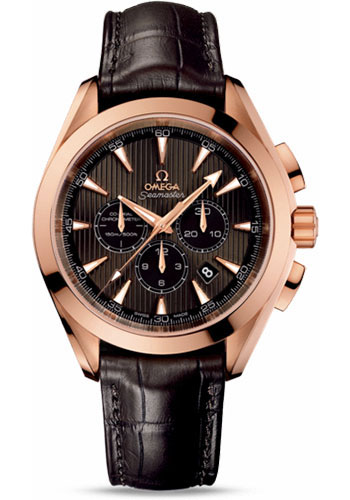 Omega Watches - Seamaster Aqua Terra Chronograph Red Gold - Style No: 231.53.44.50.06.001