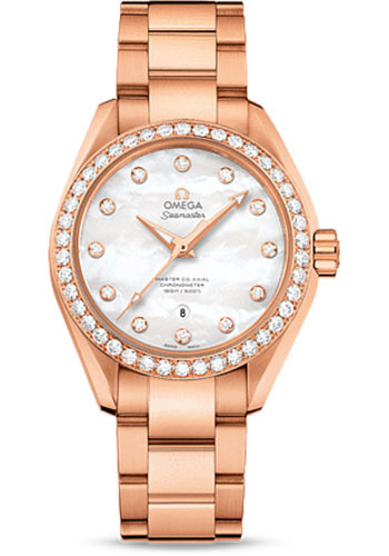 Omega Watches - Seamaster Aqua Terra 150 M Master Co-Axial 34 mm - Sedna Gold - Style No: 231.55.34.20.55.003