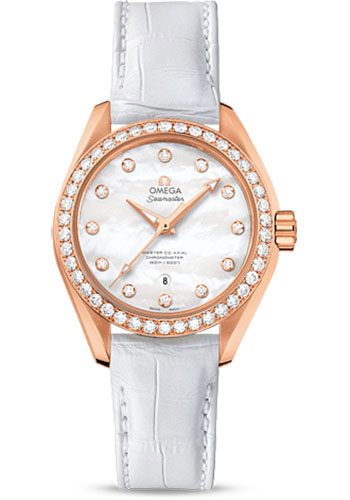 Omega Watches - Seamaster Aqua Terra 150 M Master Co-Axial 34 mm - Sedna Gold - Style No: 231.58.34.20.55.003