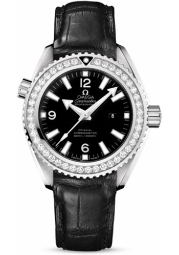 Omega Watches - Seamaster Planet Ocean 600 M Co-Axial 37.5 mm - Stainless Steel - Leather Strap - Style No: 232.18.38.20.01.001