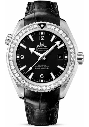 Omega Watches - Seamaster Planet Ocean 600 M Co-Axial 45.5 mm - Stainless Steel - Leather Strap - Style No: 232.18.46.21.01.001