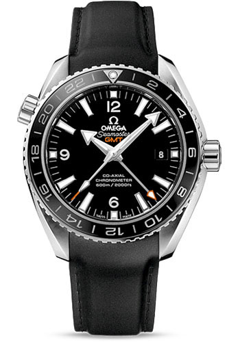 Omega Watches - Seamaster Planet Ocean 600 M Co-Axial GMT 43.5 mm - Stainless Steel - Rubber Strap - Style No: 232.32.44.22.01.001