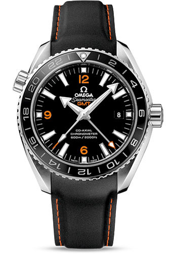 Omega Watches - Seamaster Planet Ocean 600 M Co-Axial GMT 43.5 mm - Stainless Steel - Rubber Strap - Style No: 232.32.44.22.01.002