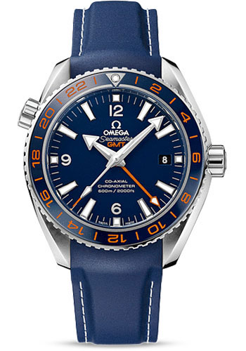 Omega Watches - Seamaster Planet Ocean 600 M Co-Axial GMT 43.5 mm - Stainless Steel - Rubber Strap - Style No: 232.32.44.22.03.001