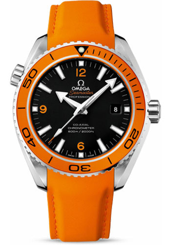 Omega Watches - Seamaster Planet Ocean 600 M Co-Axial 45.5 mm - Stainless Steel - Leather Strap - Style No: 232.32.46.21.01.001