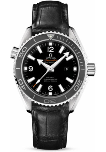 Omega Watches - Seamaster Planet Ocean 600 M Co-Axial 37.5 mm - Stainless Steel - Leather Strap - Style No: 232.33.38.20.01.001