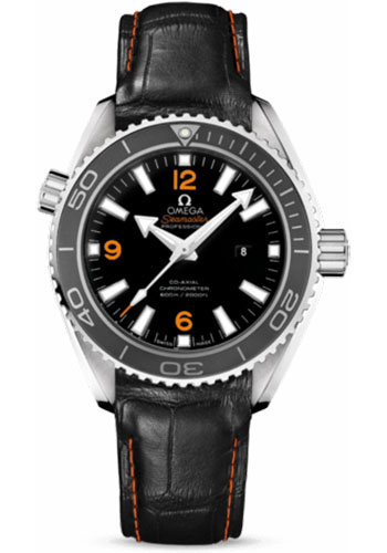 Omega Watches - Seamaster Planet Ocean 600 M Co-Axial 37.5 mm - Stainless Steel - Leather Strap - Style No: 232.33.38.20.01.002