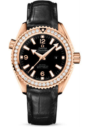 Omega Watches - Seamaster Planet Ocean 600 M Co-Axial 37.5 mm - Red Gold - Leather Strap - Style No: 232.58.38.20.01.001