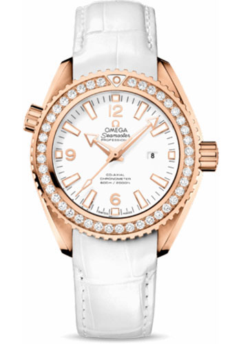 Omega Watches - Seamaster Planet Ocean 600 M Co-Axial 37.5 mm - Red Gold - Leather Strap - Style No: 232.58.38.20.04.001