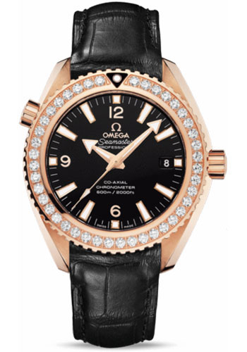 Omega Watches - Seamaster Planet Ocean 600 M Co-Axial 42 mm - Red Gold - Leather Strap - Style No: 232.58.42.21.01.001