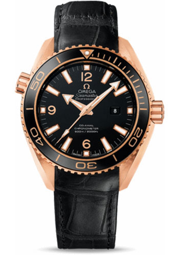 Omega Watches - Seamaster Planet Ocean 600 M Co-Axial 37.5 mm - Red Gold - Leather Strap - Style No: 232.63.38.20.01.001