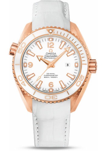 Omega Watches - Seamaster Planet Ocean 600 M Co-Axial 37.5 mm - Red Gold - Leather Strap - Style No: 232.63.38.20.04.001