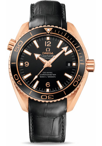 Omega Watches - Seamaster Planet Ocean 600 M Co-Axial 42 mm - Red Gold - Leather Strap - Style No: 232.63.42.21.01.001
