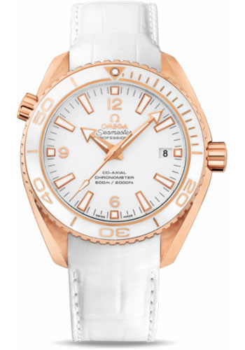 Omega Watches - Seamaster Planet Ocean 600 M Co-Axial 42 mm - Red Gold - Leather Strap - Style No: 232.63.42.21.04.001