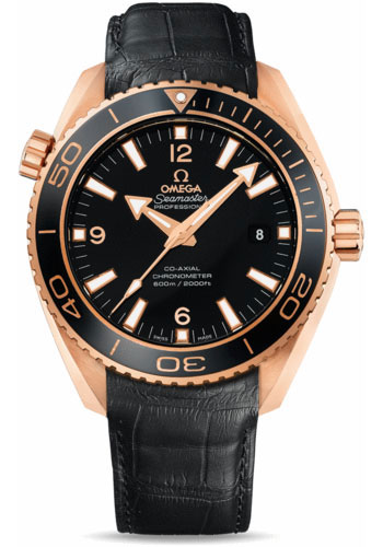 Omega Watches - Seamaster Planet Ocean 600 M Co-Axial 45.5 mm - Red Gold - Leather Strap - Style No: 232.63.46.21.01.001