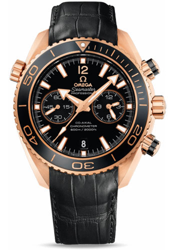 Omega Watches - Seamaster Planet Ocean 600 M Co-Axial Chronograph 45.5 mm - Red Gold - Leather Strap - Style No: 232.63.46.51.01.001