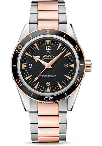 Omega Watches - Seamaster 300 Omega Master Co-Axial 41 mm - Steel and Sedna Gold - Style No: 233.20.41.21.01.001
