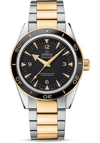 Omega Watches - Seamaster 300 Omega Master Co-Axial 41 mm - Steel and Yellow Gold - Style No: 233.20.41.21.01.002