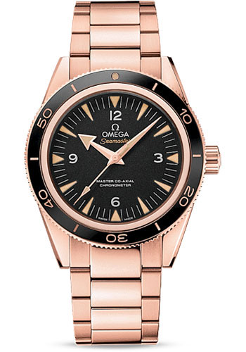 Omega Watches - Seamaster 300 Omega Master Co-Axial 41 mm - Sedna Gold - Style No: 233.60.41.21.01.001