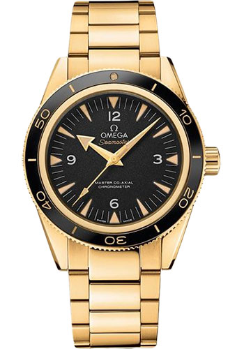 Omega Watches - Seamaster 300 Omega Master Co-Axial 41 mm - Yellow Gold - Style No: 233.60.41.21.01.002