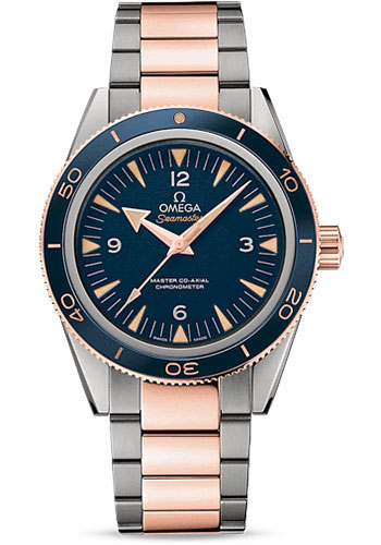 Omega Watches - Seamaster 300 Omega Master Co-Axial 41 mm - Titanium and Sedna Gold - Style No: 233.60.41.21.03.001