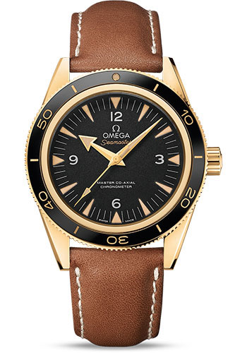 Omega Watches - Seamaster 300 Omega Master Co-Axial 41 mm - Yellow Gold - Style No: 233.62.41.21.01.001