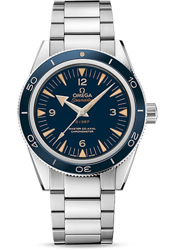 Omega Watches - Seamaster 300 Omega Master Co-Axial 41 mm - Platinum - Style No: 233.90.41.21.03.002