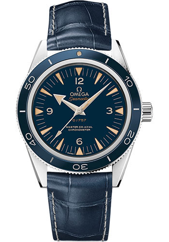 Omega Watches - Seamaster 300 Omega Master Co-Axial 41 mm - Platinum - Style No: 233.93.41.21.03.001