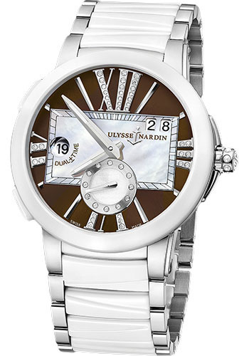 Ulysse Nardin Watches - Executive Dual Time Lady Stainless Steel - Ceramic Bezel - Bracelet - Style No: 243-10-7/30-05