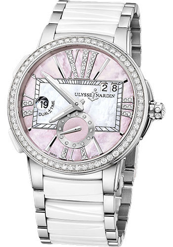 Ulysse Nardin Watches - Executive Dual Time Lady Stainless Steel - Diamond Bezel - Bracelet - Style No: 243-10B-7/397