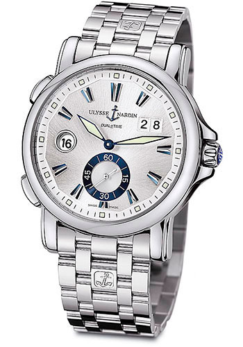 Ulysse Nardin Watches - Classic Dual Time 42mm - Stainless Steel - Bracelet - Style No: 243-55-7/91