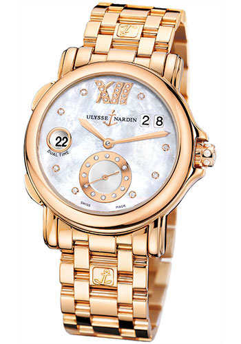 Ulysse Nardin Watches - Classic Dual Time Lady Rose Gold - Bracelet - Style No: 246-22-8/391