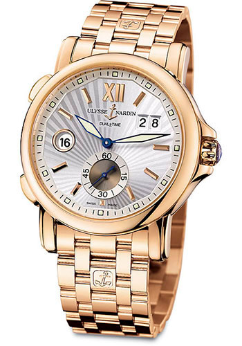 Ulysse Nardin Watches - Classic Dual Time 42mm - Rose Gold - Bracelet - Style No: 246-55-8/31