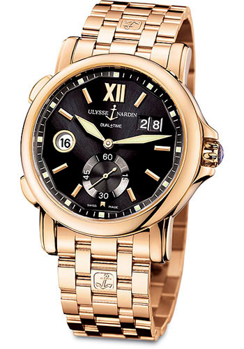 Ulysse Nardin Watches - Classic Dual Time 42mm - Rose Gold - Bracelet - Style No: 246-55-8/32