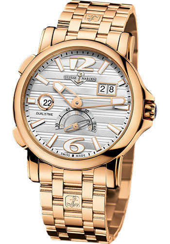 Ulysse Nardin Watches - Classic Dual Time 42mm - Rose Gold - Bracelet - Style No: 246-55-8/60