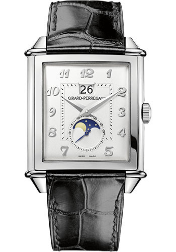 Girard-Perregaux Watches - Vintage 1945 XXL Large Date and Moon Phases - Steel - Style No: 25882-11-121-BB6B